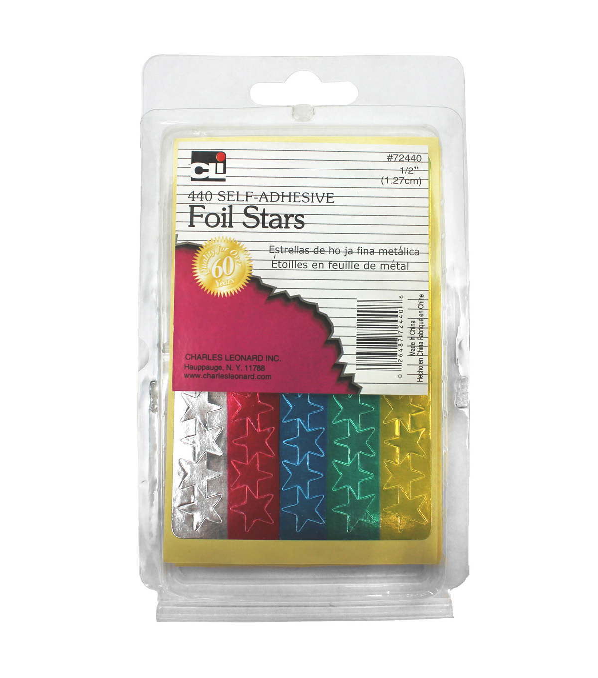 Foil Stars 1/2\u0022 Stickers 24 Packs