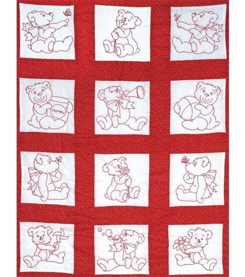 Nursery Quilt Blocks 9\u0022x9\u0022 12/Pkg-Baby Bears