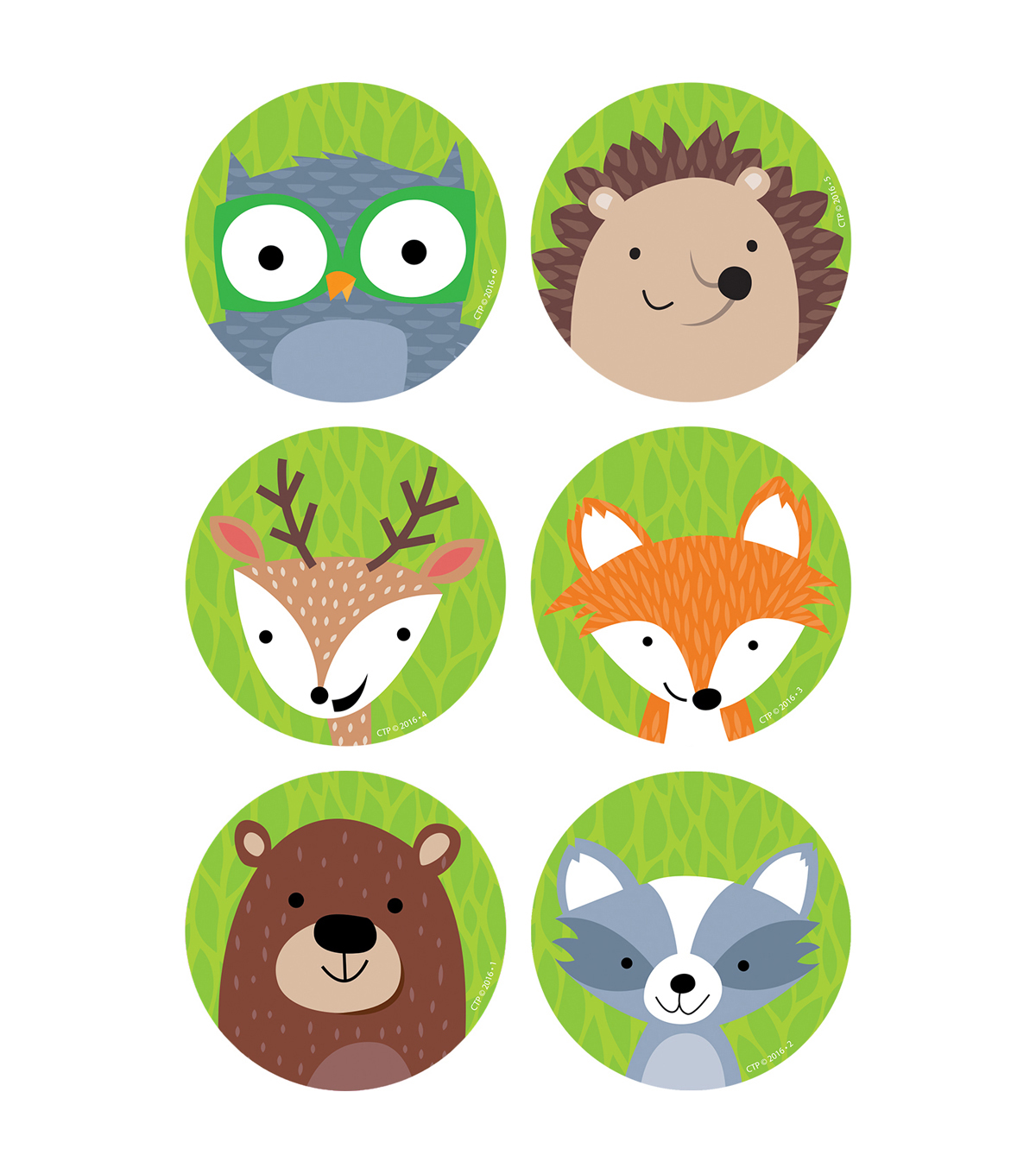 Creative Teaching Press Woodland Friends 3\u0022, 36 Per Pack, 6 Packs