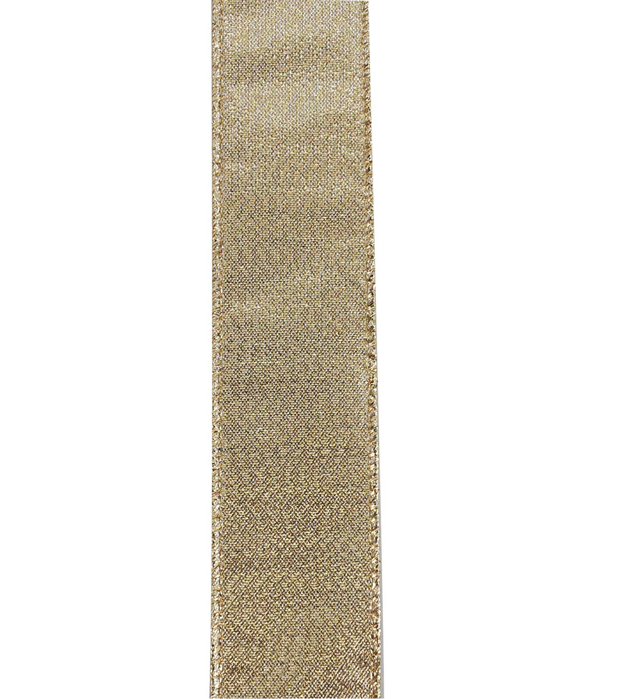 Maker\u0027s Holiday Christmas Metallic Ribbon 1.5\u0027\u0027x30\u0027-Gold