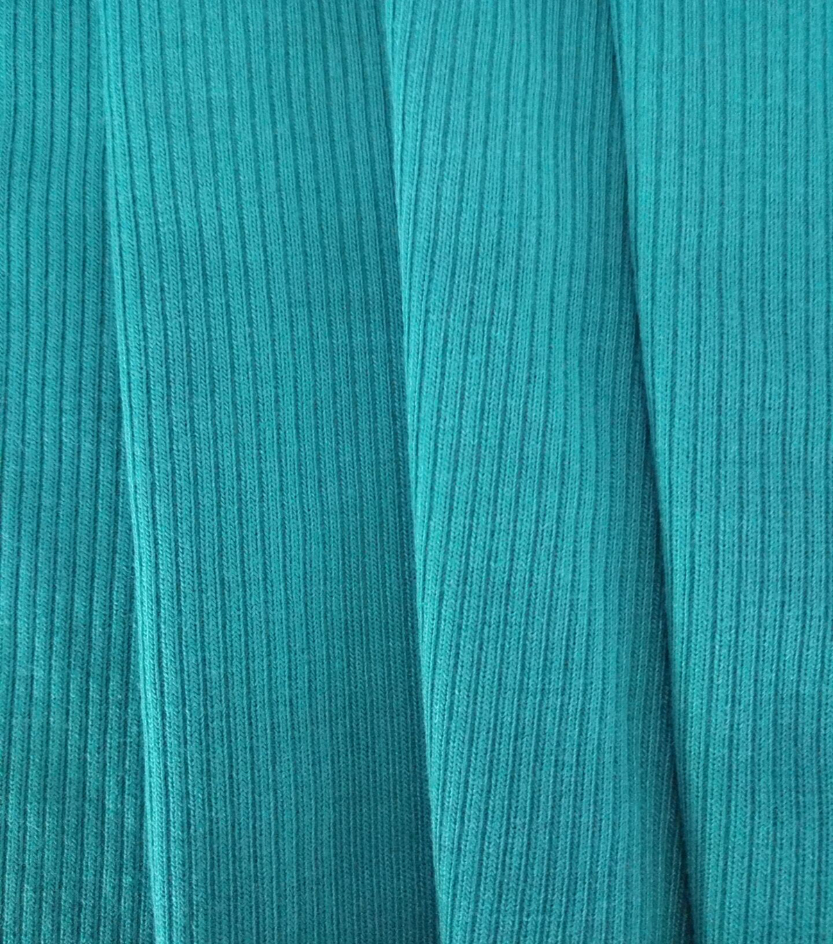Apparel Knit Fabric-Tiny Ribbed Knit Dark Teal