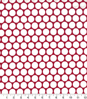 Quilter\u0027s Showcase Cotton Fabric 44\u0022-Dots Red