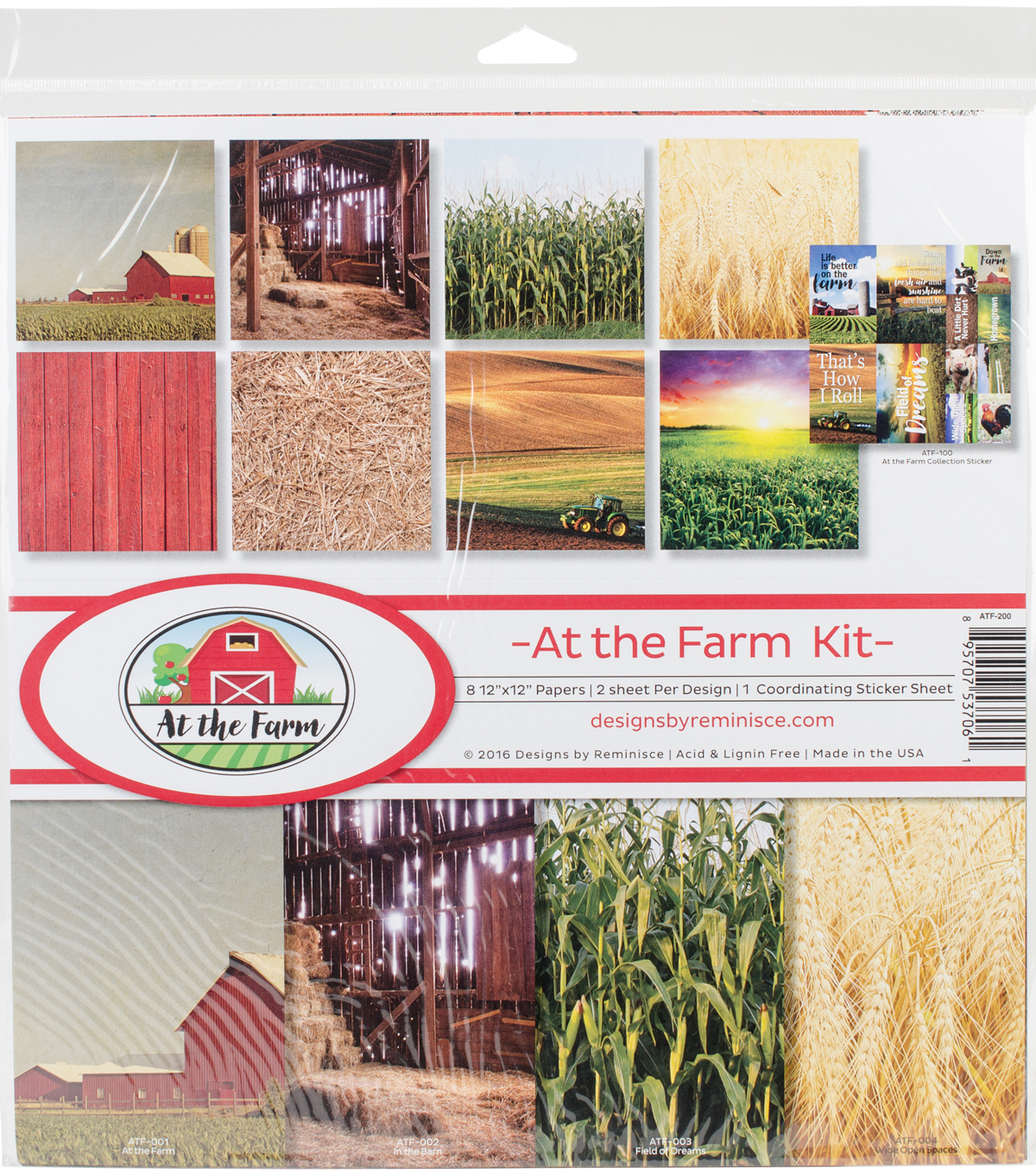 Reminisce Collection Kit 12\u0022X12\u0022-At The Farm