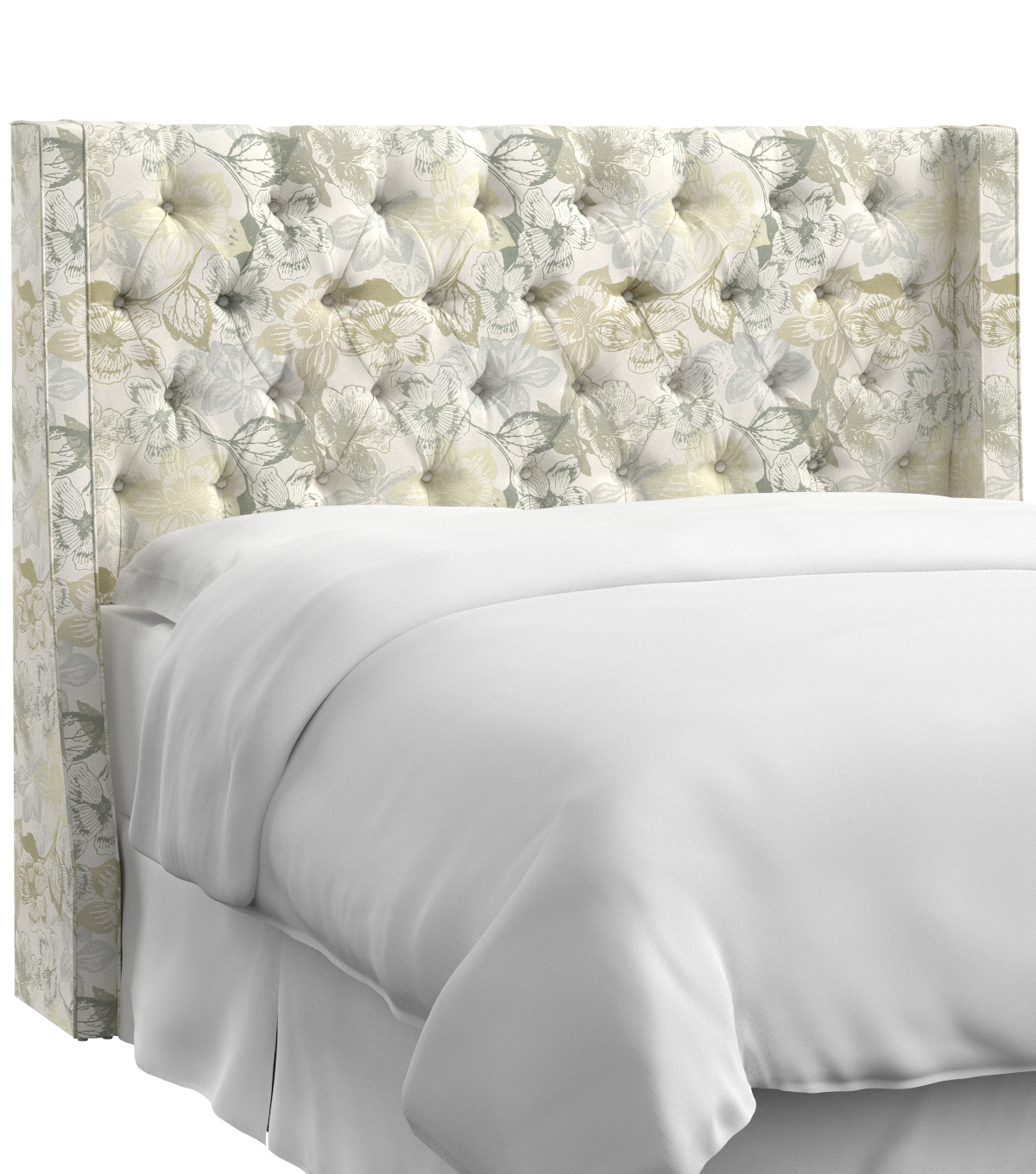 Skyline furniture tufted wingback headboard california king