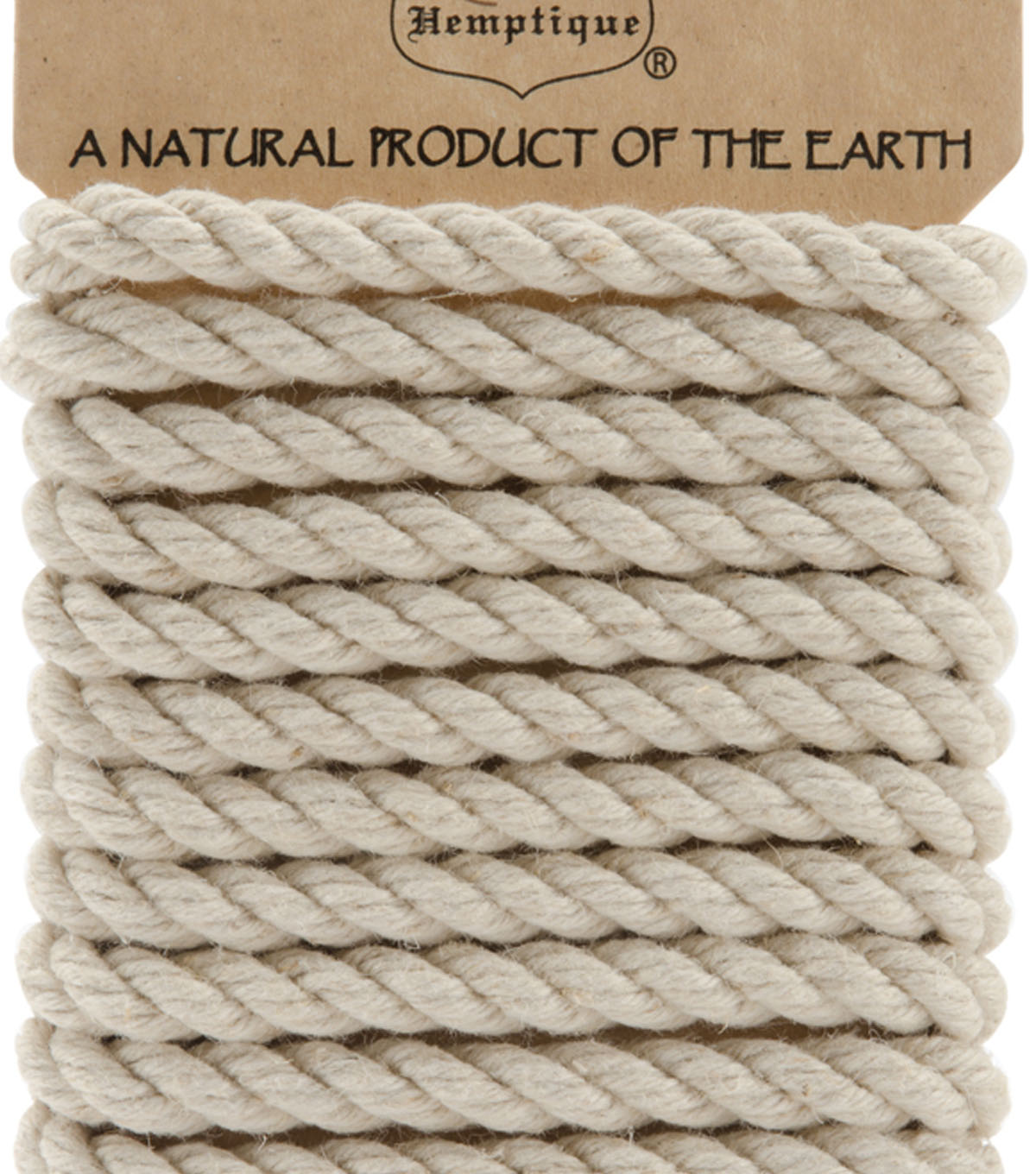 Hemptique 6mm 6.56\u0027 Hemp Rope-Natural