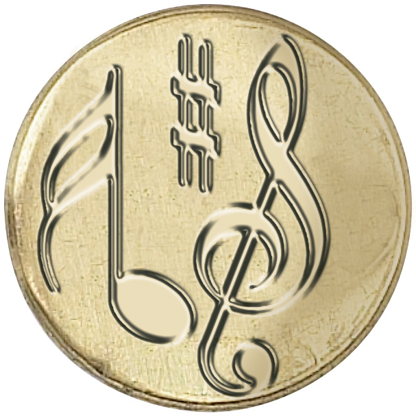 Music Note-seal Coin