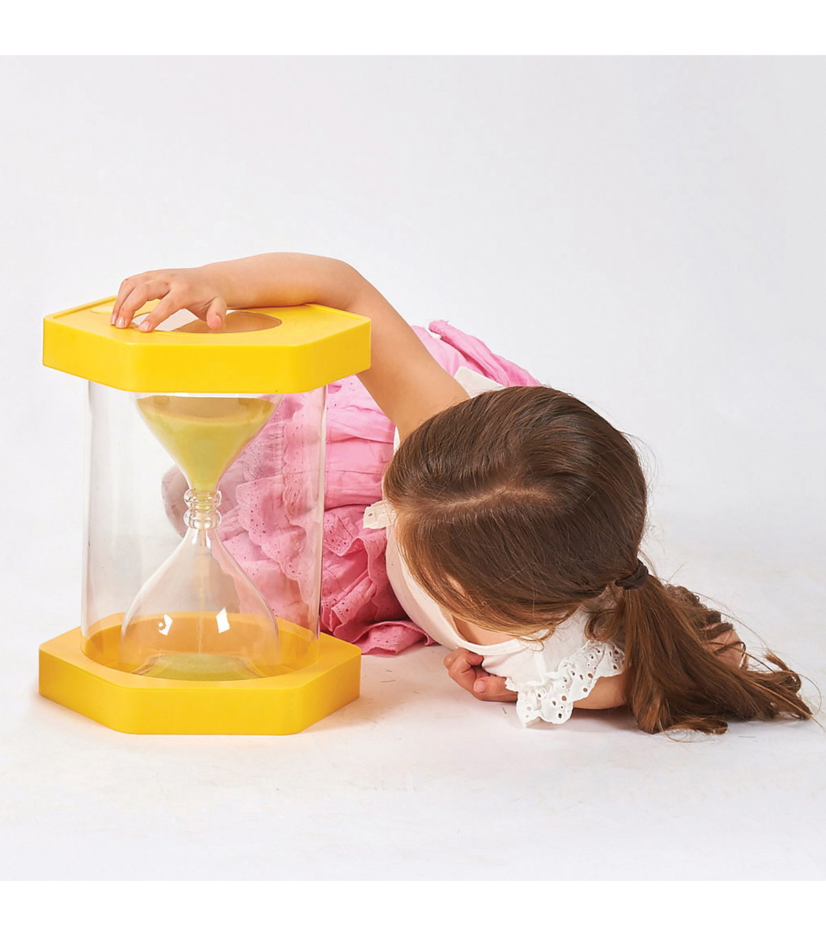 TickiT Giant ClearView Sand Timer, 3 Minute, Yellow