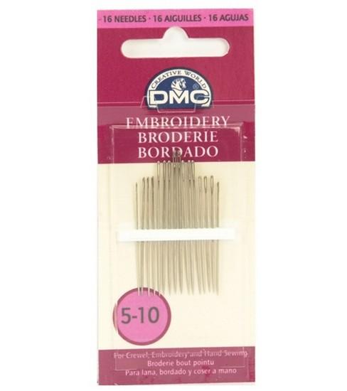 3-9 5-10 DMC Embroidery Needles Sizes 1-5
