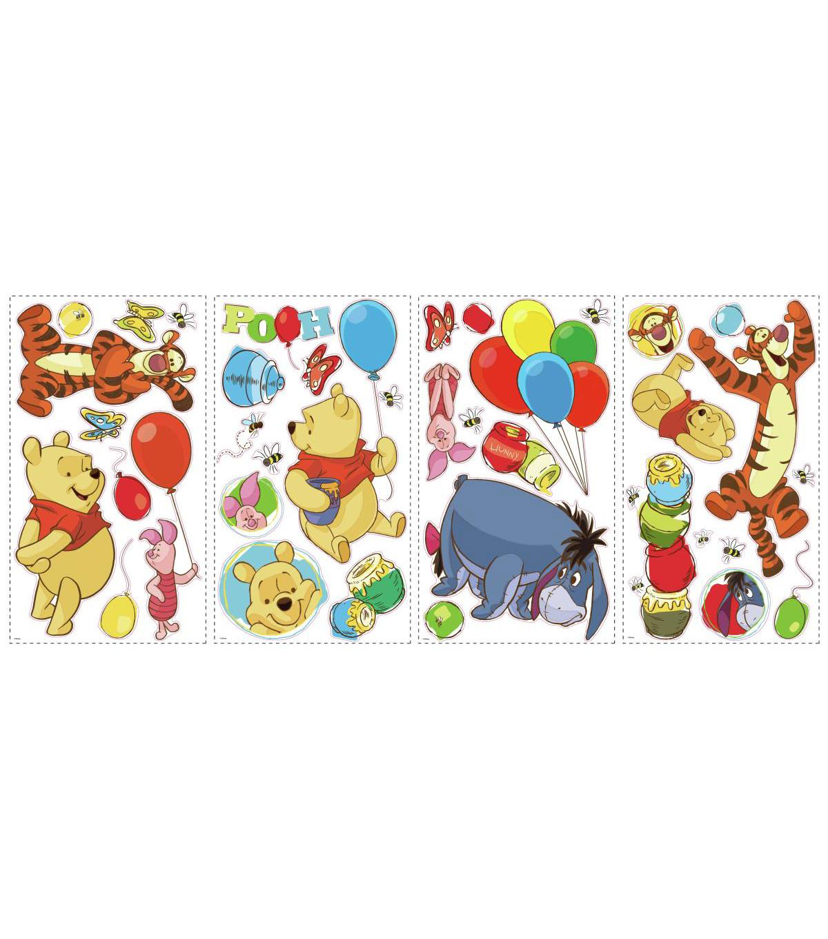 York Wallcoverings Peel & Stick Wall Decal-Pooh & Friends