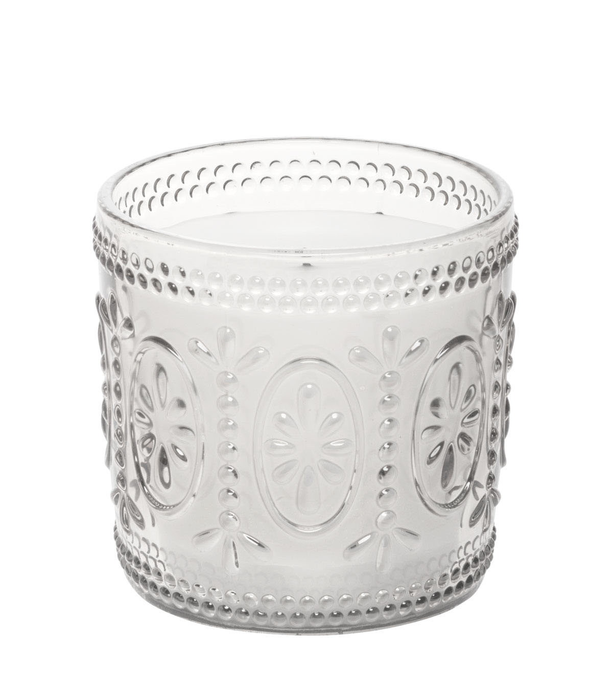 Hudson 43 Candle & Light Collection 3X3 Clear Amelia Glass Lumnry With 5 Hour Timer