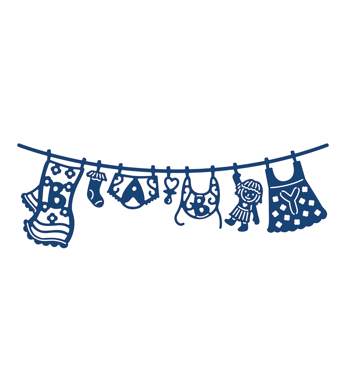 Tattered Lace Metal Die-Washing Line Baby Girl