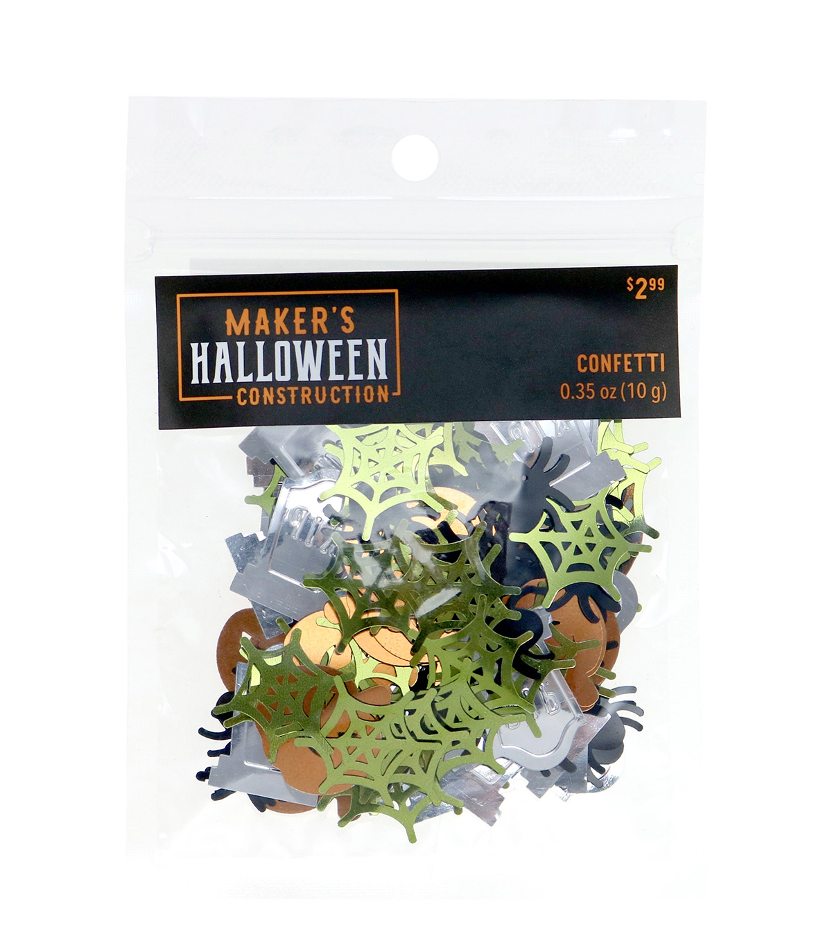 Maker\u0027s Halloween Construction Confetti-Mix 2