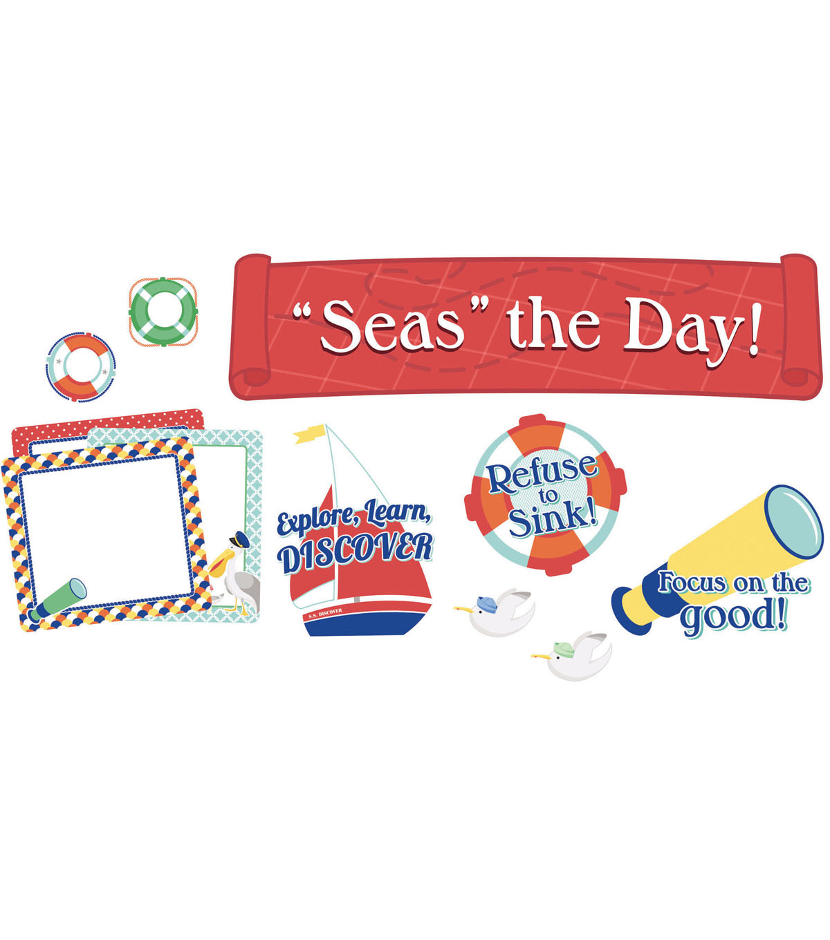 Seas the Day! Mini Bulletin Board Set, 3 Sets