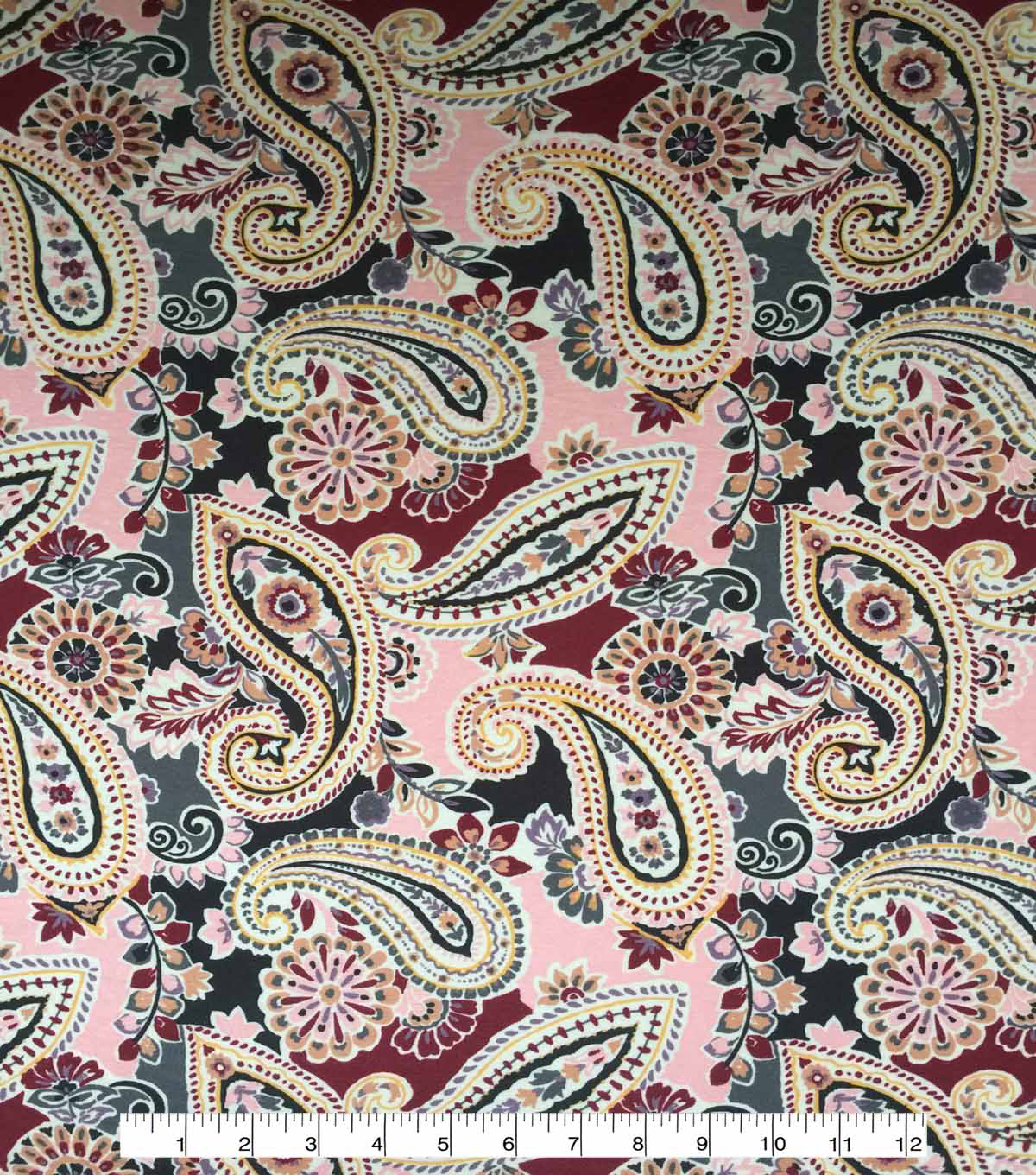 Apparel Knit Fabric-Paisley