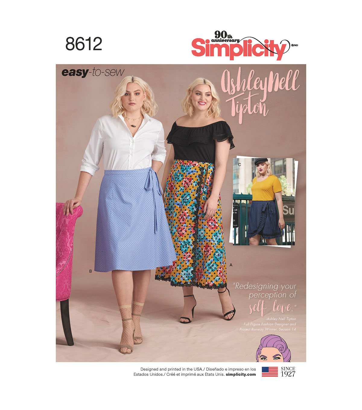 Simplicity Pattern 8612 Women\u0027s Easy Wrap Skirts-Size F5 (18W-26W)