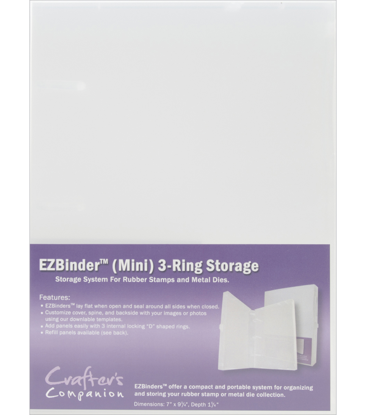 EZBinder Mini 3-Ring Storage-Clear
