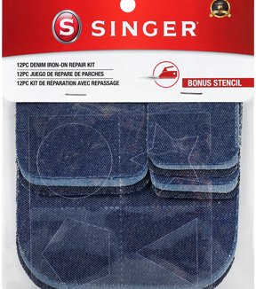 Singer Denim Iron-On Repair Kit-Assorted Sizes
