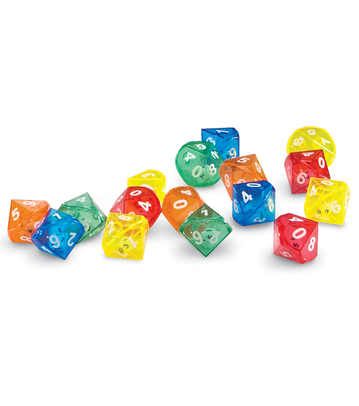Learning Resources 10-Sided Dice in Dice, Pack of 72