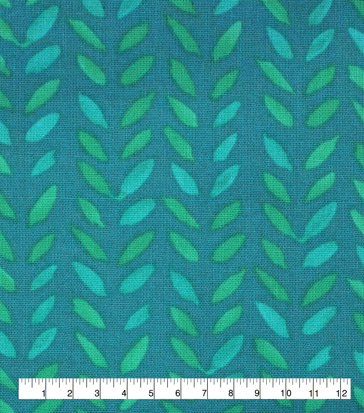 Keepsake Calico Cotton Fabric-Watercolor Stamps on Teal