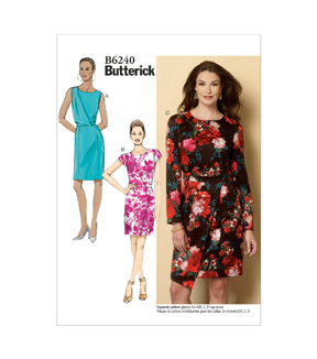 Butterick Pattern B6240-E50 Misses\u0027 Dress-14-16-18-20-22