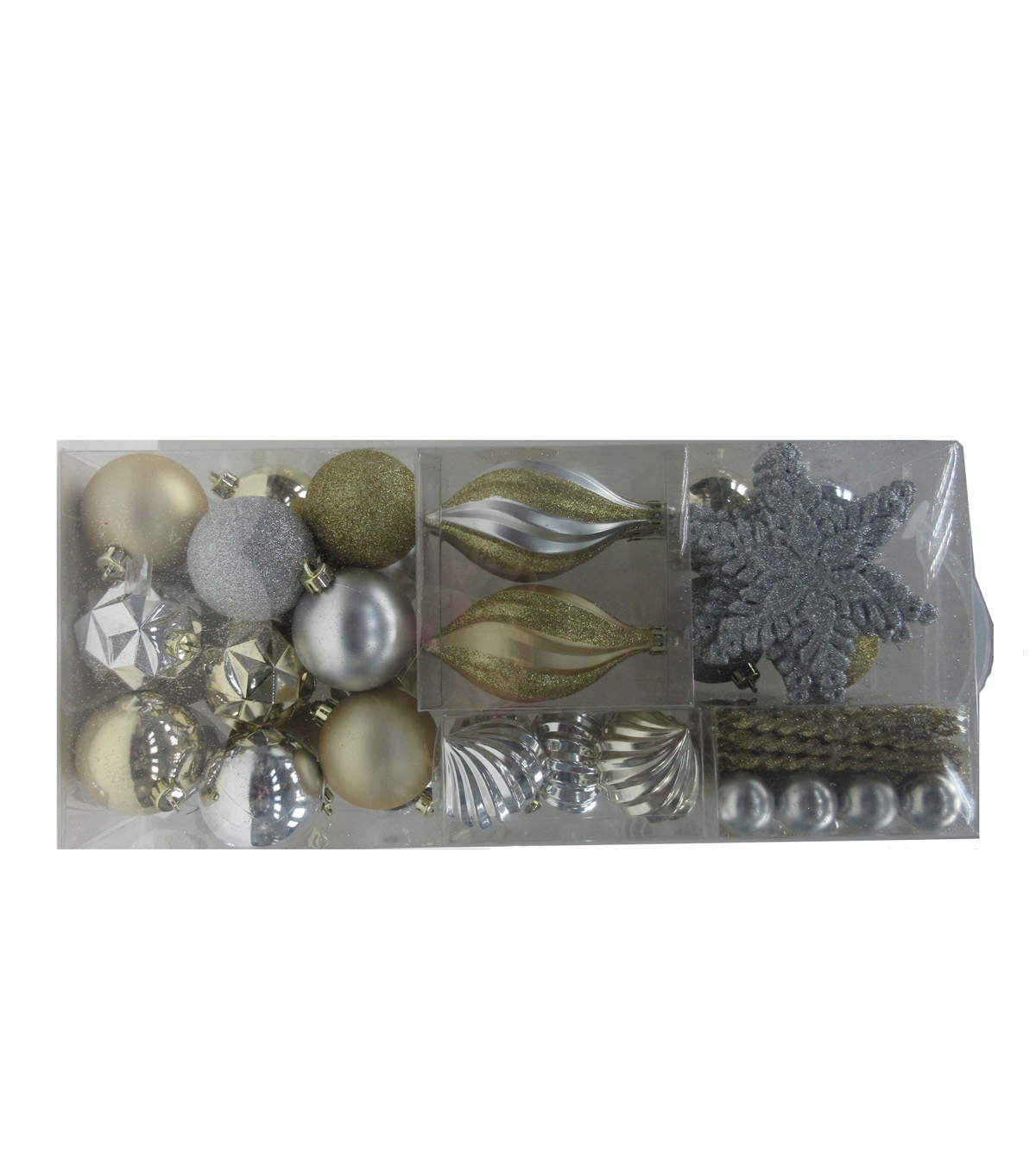Maker\u0027s Holiday Christmas Boxed Ornaments-Silver & Gold