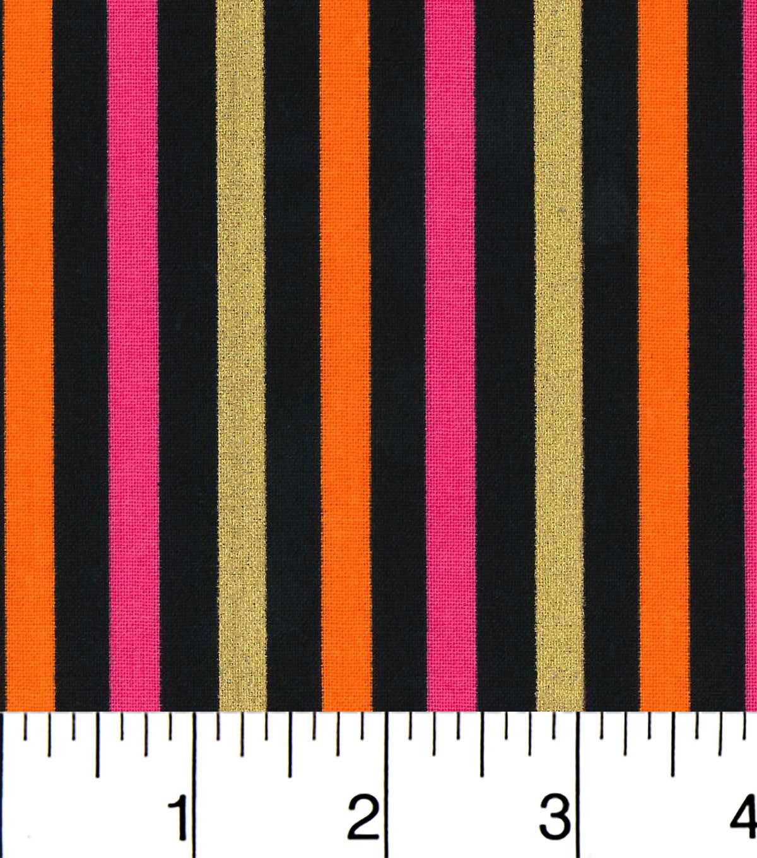 Cotton Fabric Stripes Pink And Orange