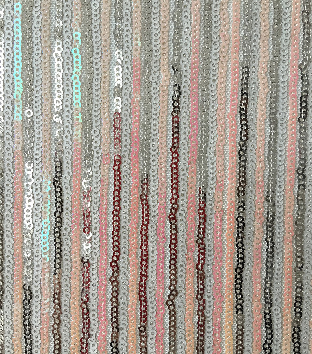 Casa Dahlia Sequin Stretch Fabric-Nude