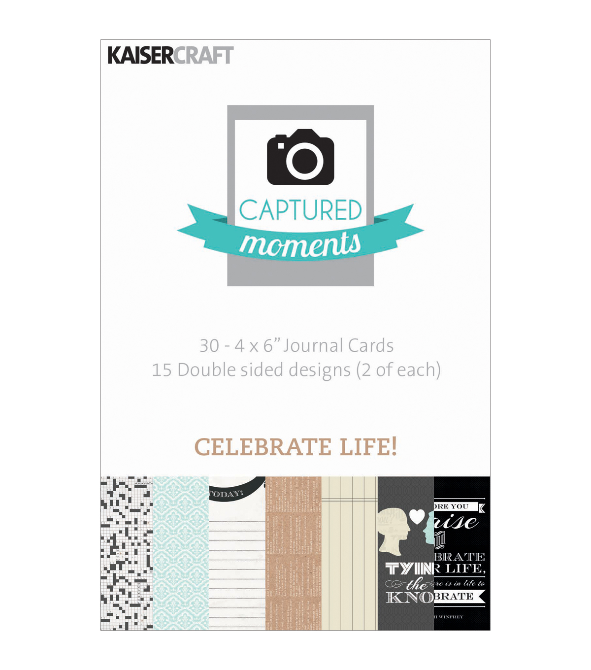 Kaisercraft Captured Moments Celebrate Life Double Sided Cards 6\u0022x4\u0022