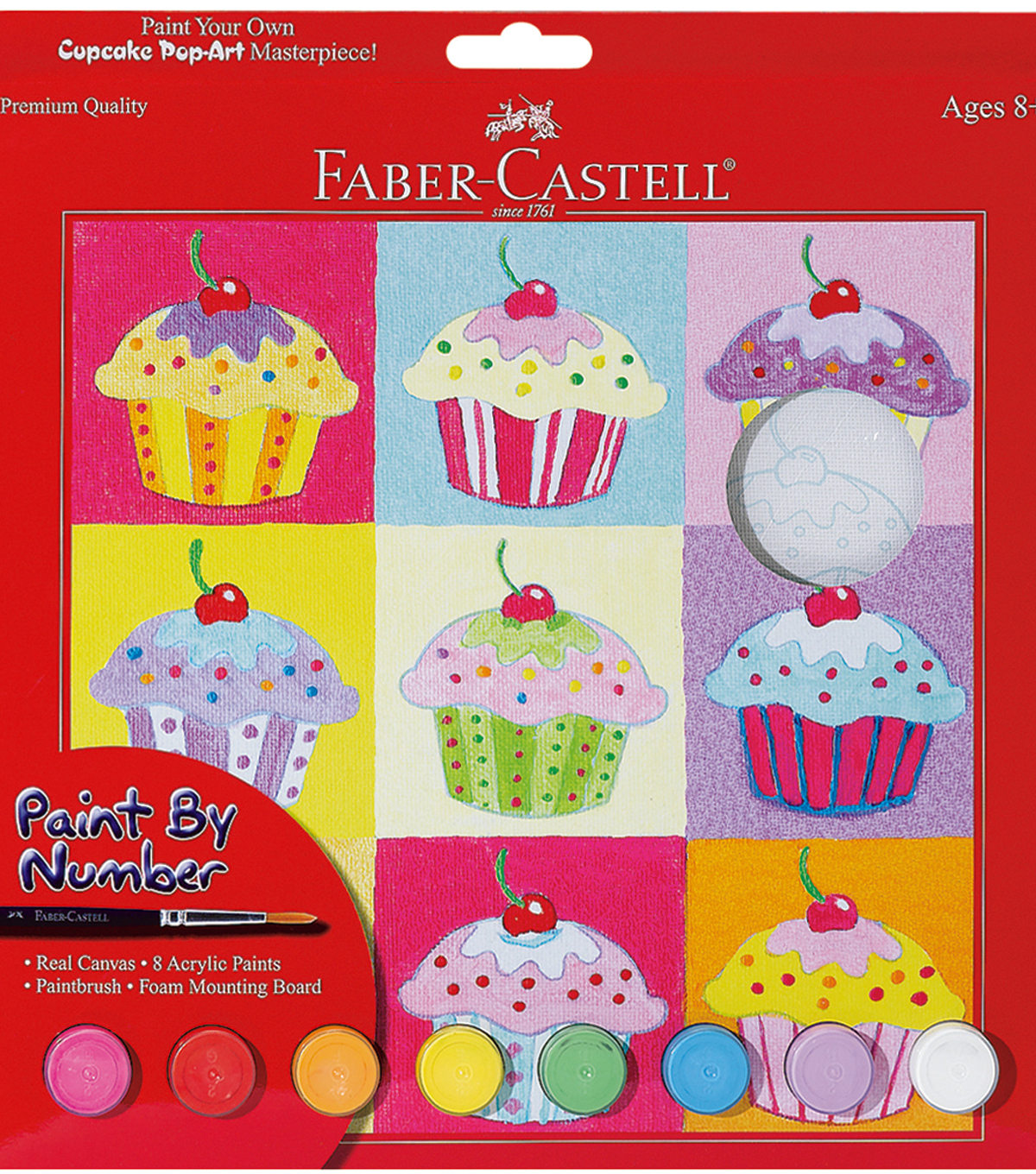 "Creativity For Kids-Paint By Number Kit 9""X9""-Cupcake Pop ..."