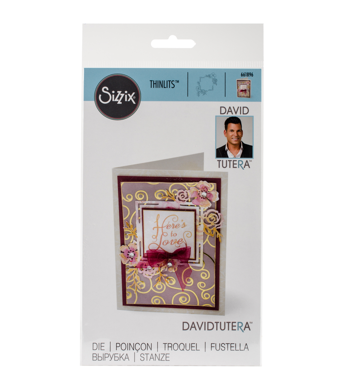 Sizzix Thinlits David Tutera Die-Floral Label #1