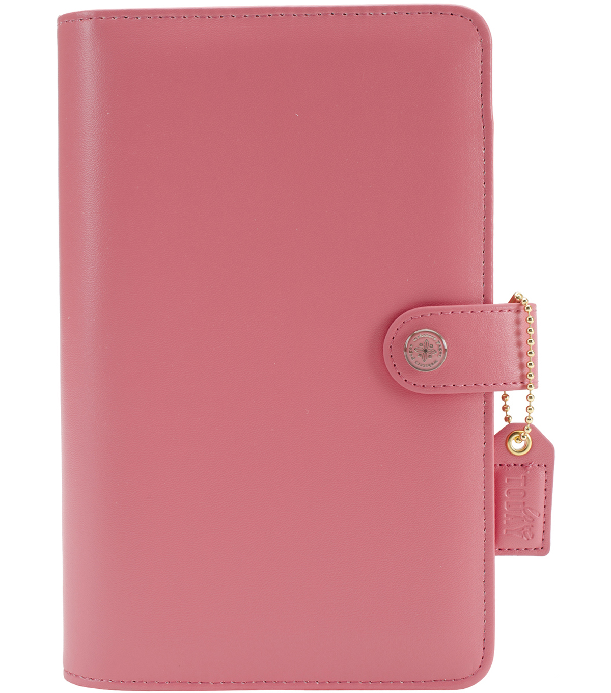A5 Faux Leather 6-Ring Planner Binder 7.5\u0022X10\u0022-Light Pink