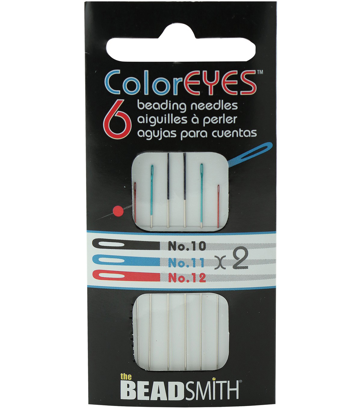 The BeadSmith ColorEyes 6 pk Assorted Beading Needles