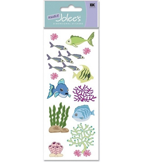 A Touch Of Jolees Dimensional Stickers-Fish & Coral