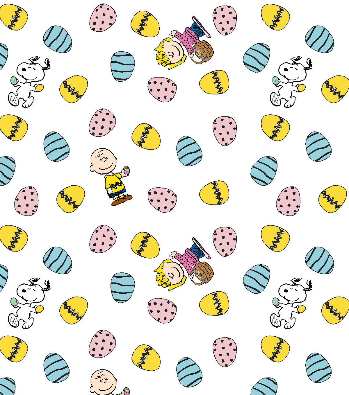 Peanuts Friends Cotton Fabric-Easter