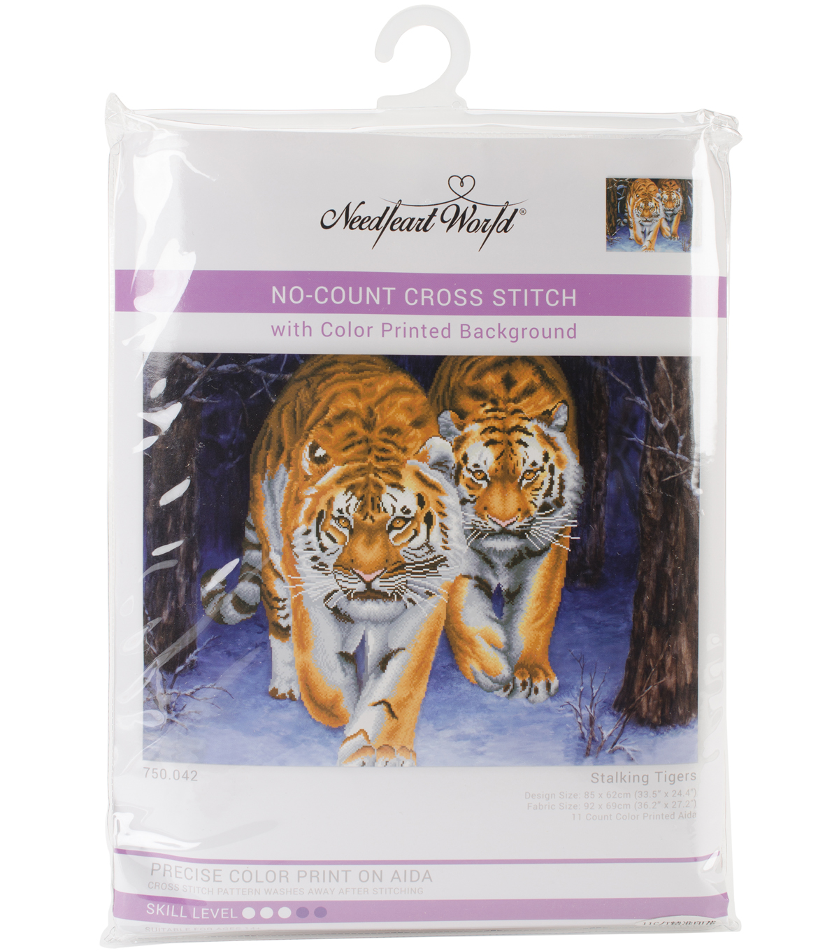 Needleart World Printed Cross Stitch Kit-Stalking Tigers
