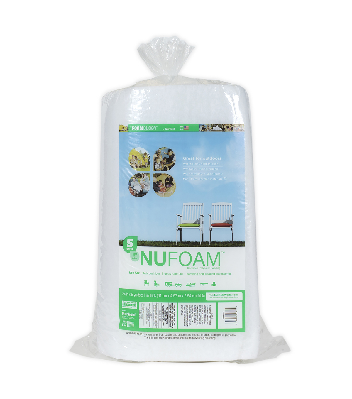 NuFoam Densified Polyester Padding Roll