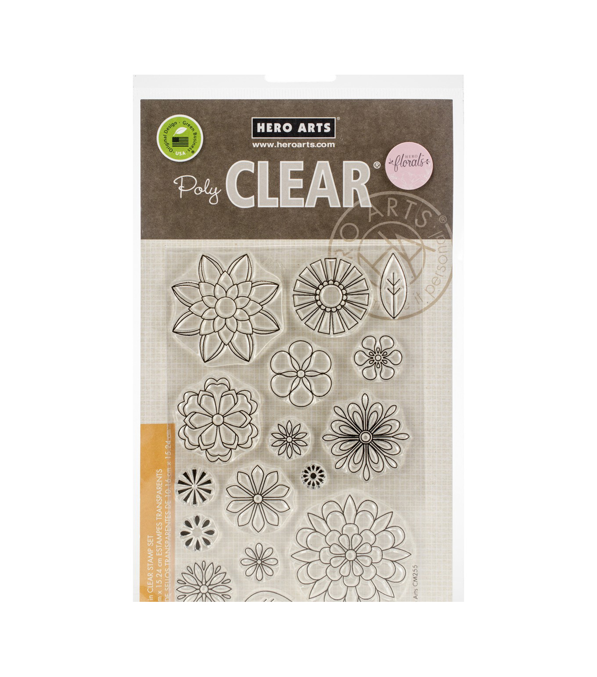Hero Arts Florals 16 pk Poly Clear Stamps-Blossoms for Coloring