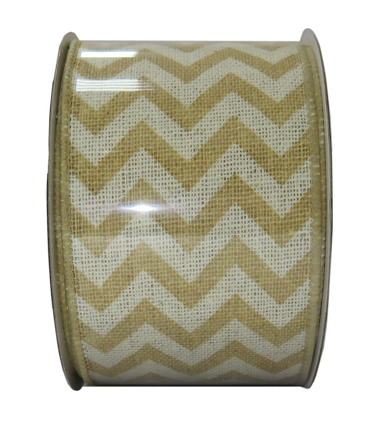 Decorative Ribbon 2.5\u0027\u0027 X 15\u0027-Cream Chevron