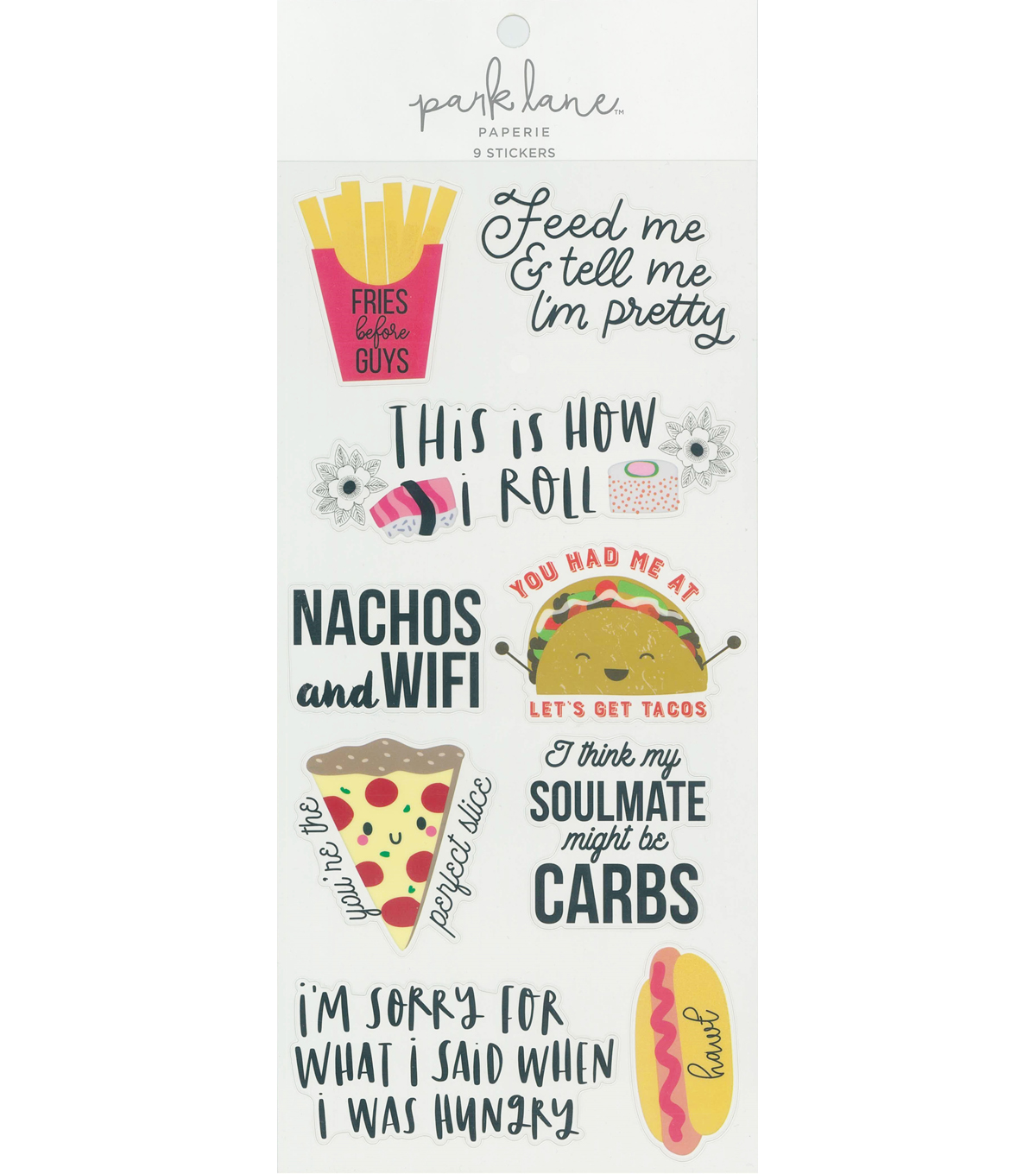 Park Lane Paperie 9 pk Stickers-Food