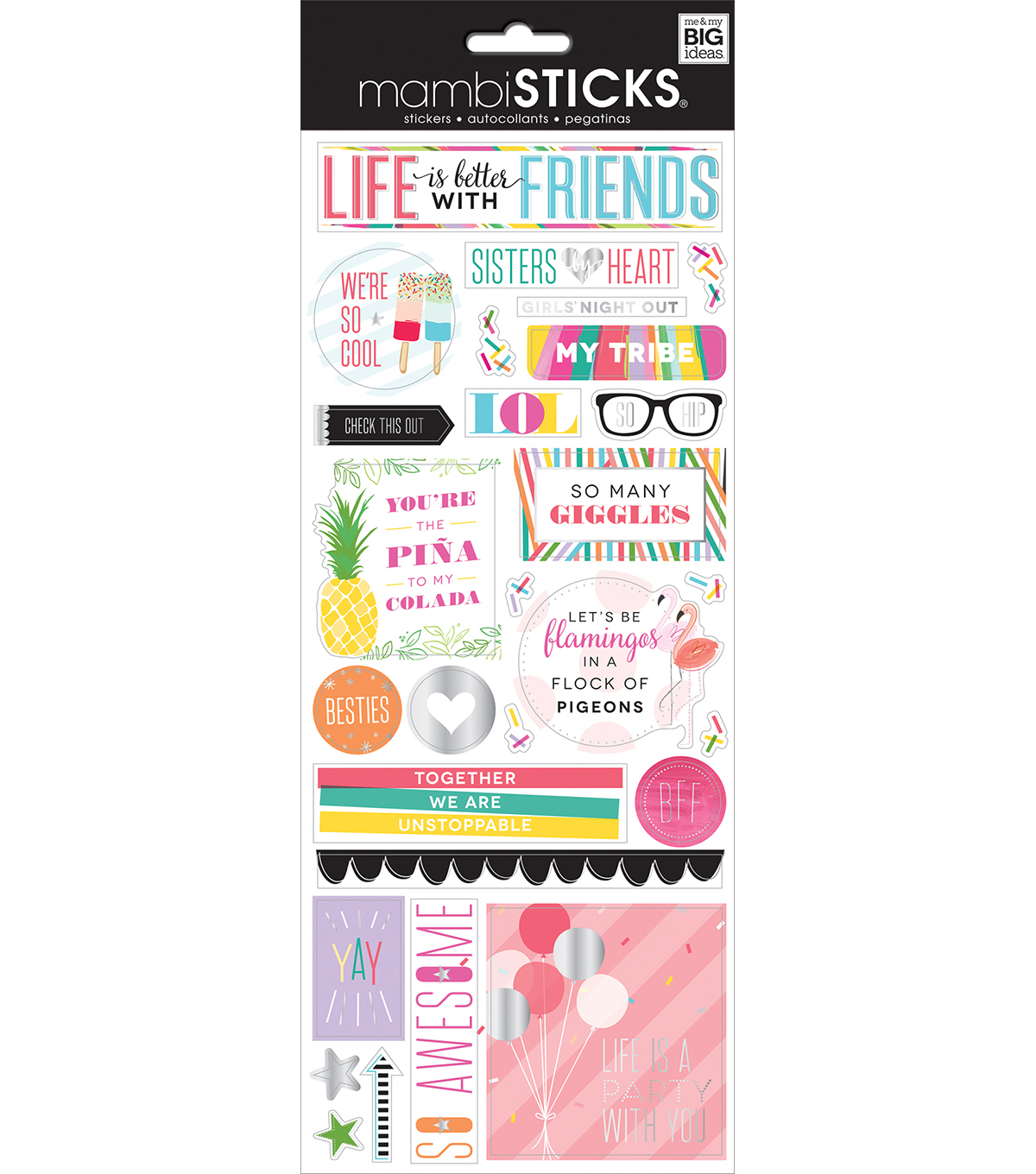 The Happy Planner Specialty Stickers-Life is Better with Friends
