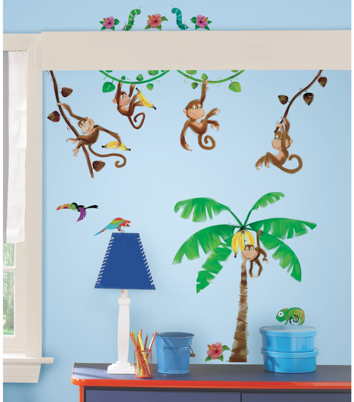 York Wallcoverings Peel & Stick Wall Decals-Monkey Business
