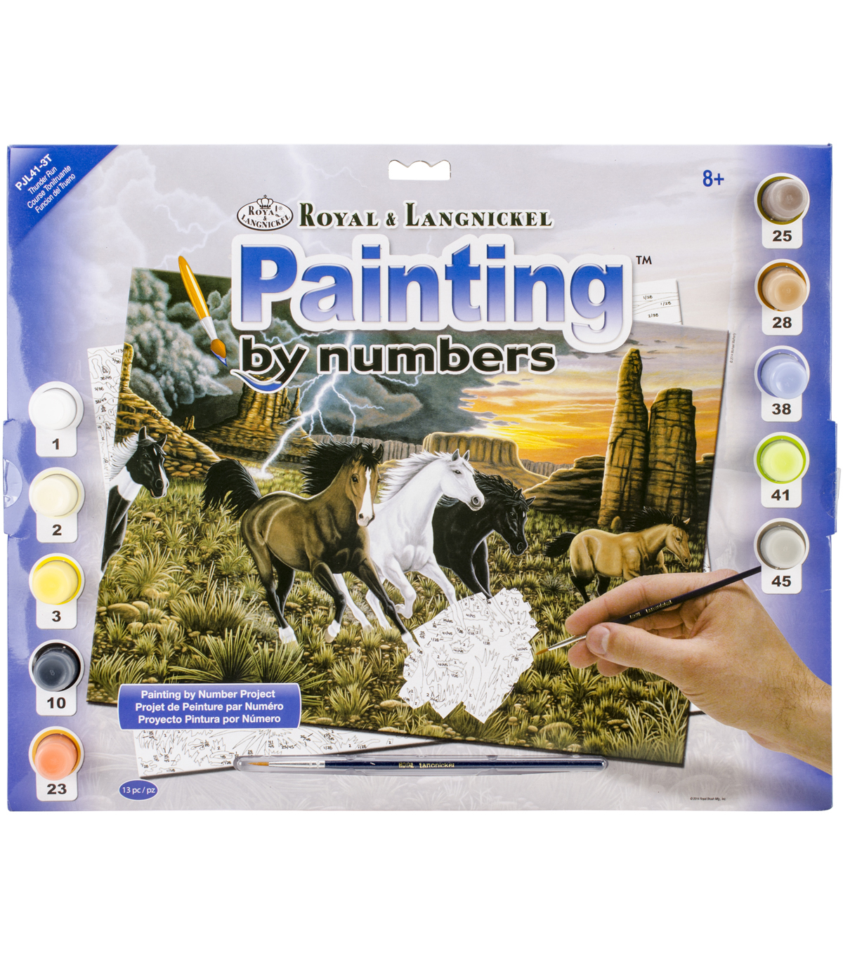 Royal Langnickel Junior Large Thunder Run Paint By Number Kit