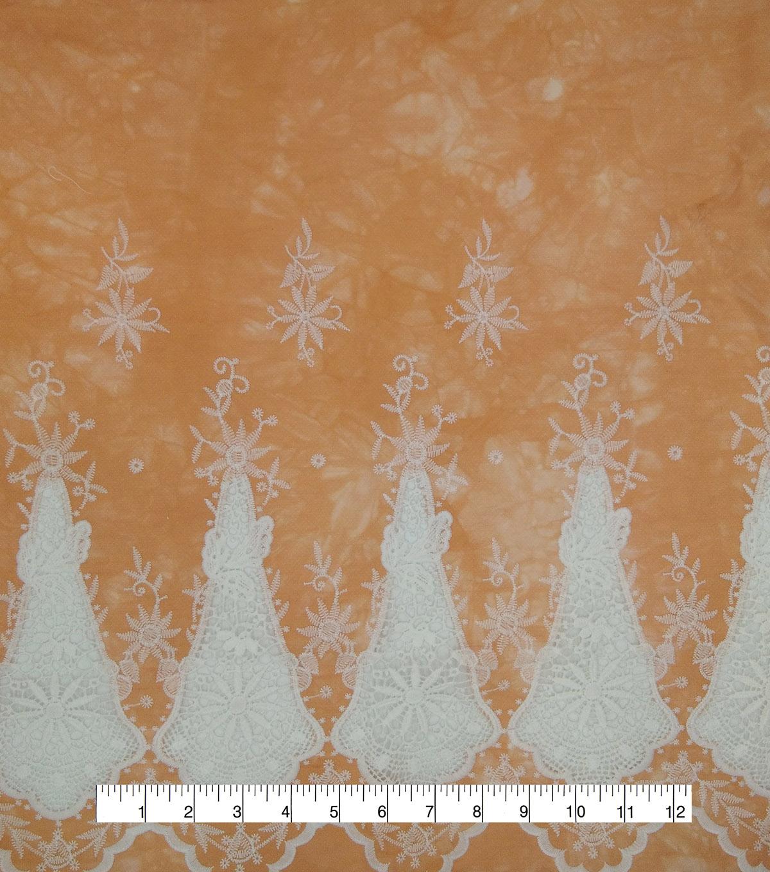 a7d6ff88d1d7 Denim Embroidered Cotton Fabric-Light Peach Tie Dye | JOANN
