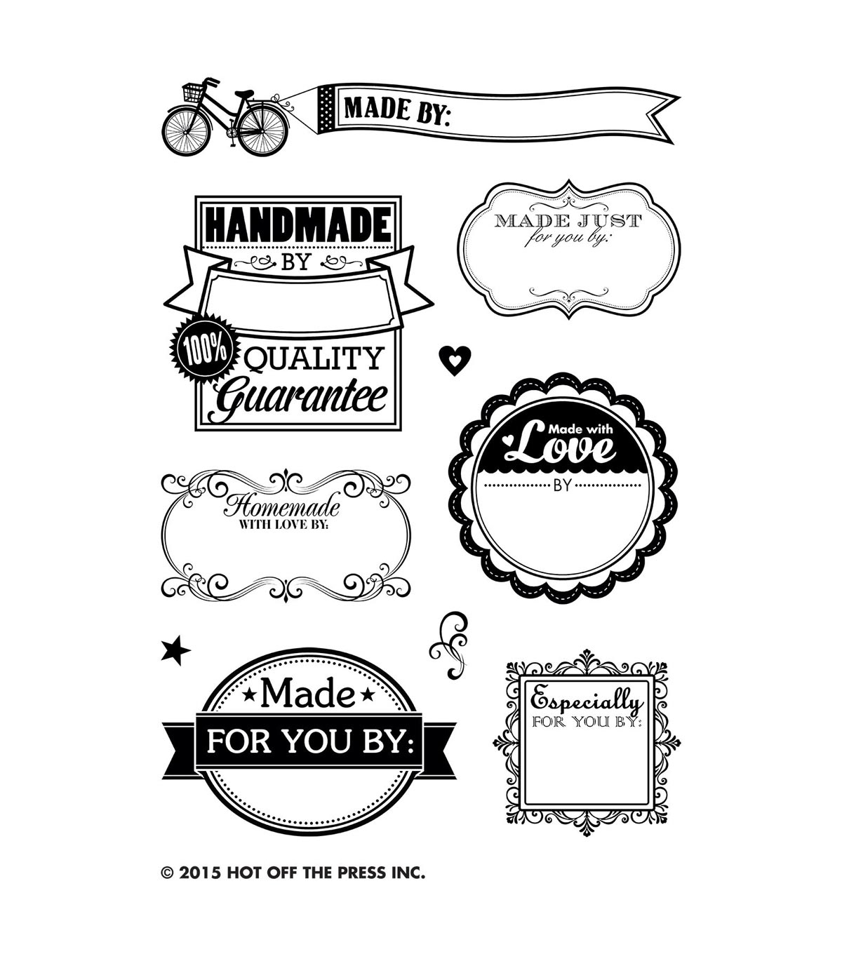 Hot Off The Press Acrylic Stamps 3.75\u0022X5.75\u0022 Sheet-Made By Me