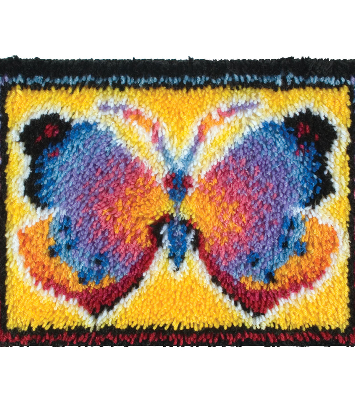 Wonderart Latch Hook Kit 15\u0022X20\u0022-Butterfly Fantasy