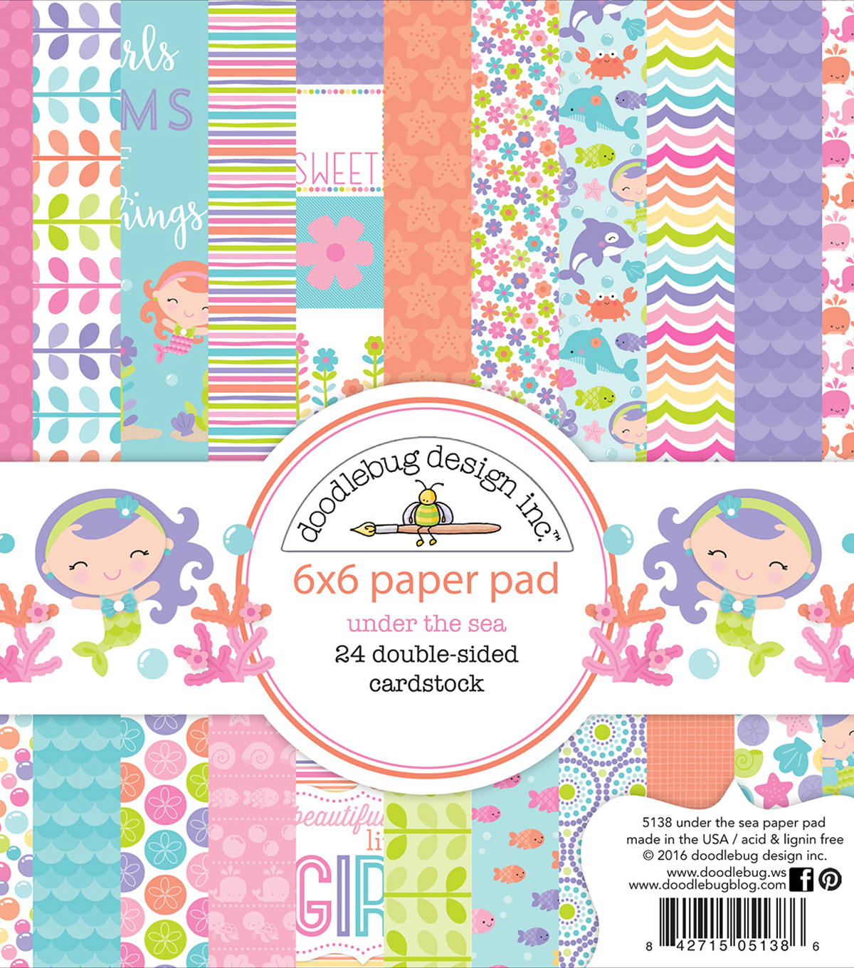 Doodlebug Double-Sided Paper Pad 6\u0022X6\u0022-Under The Sea
