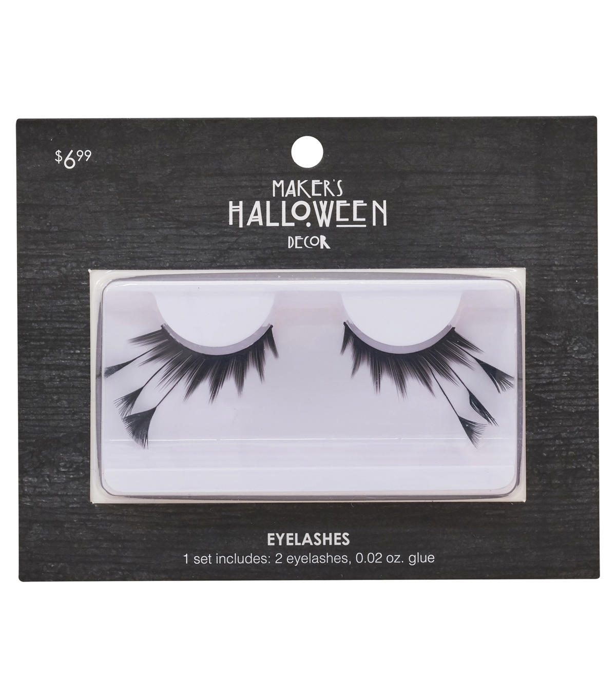 Makers Halloween Eyelashes With Long Feathers Glue Black Joann