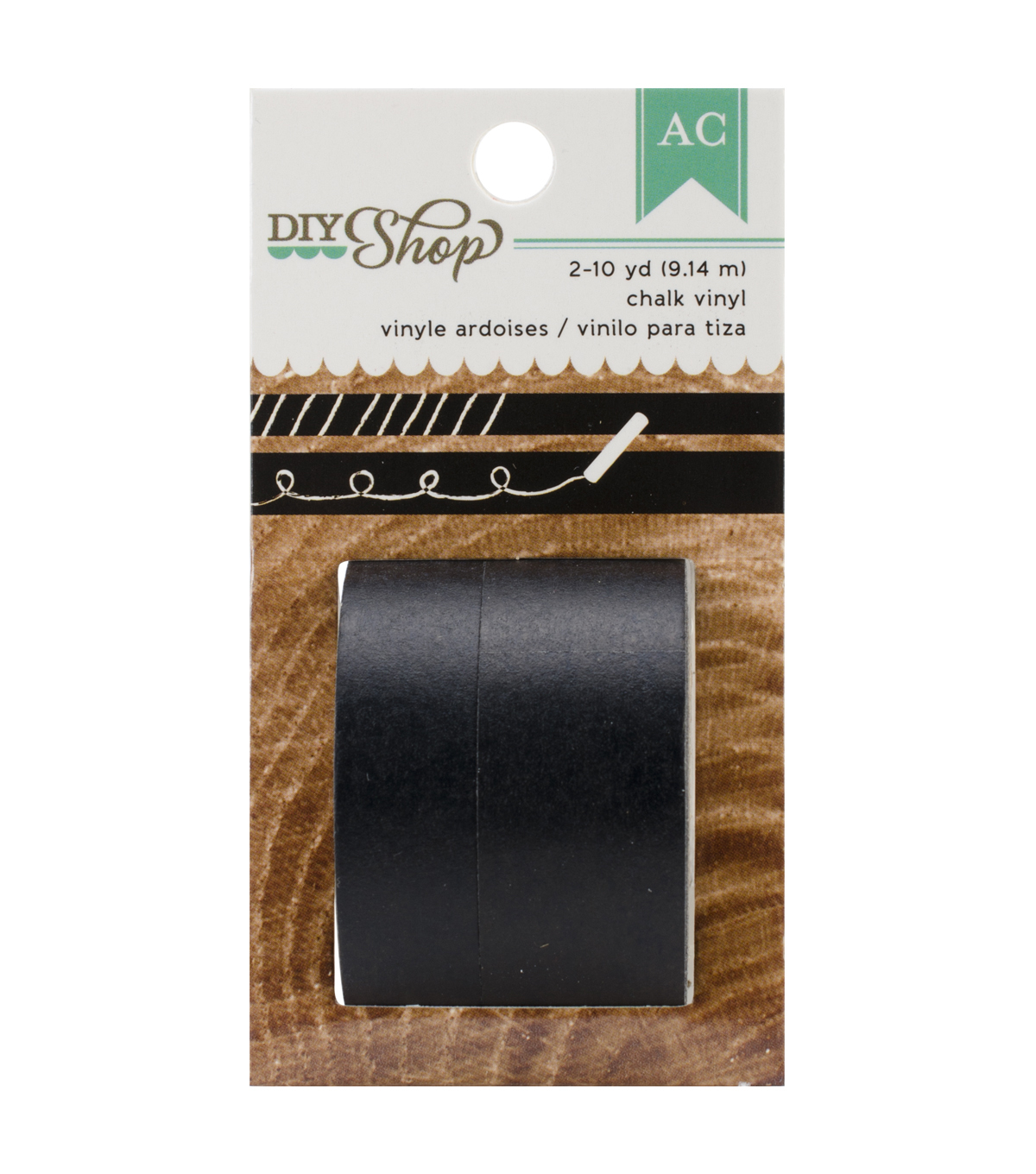 DIY Shop Washi Tape 10yd 2/Pkg-Chalk Vinyl