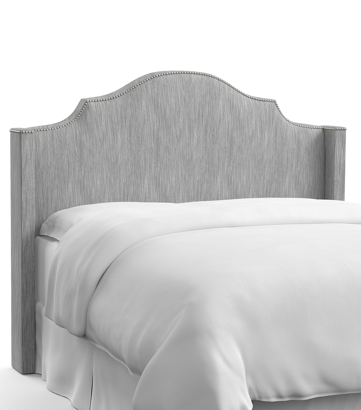 Skyline Furniture Nail Button Notched Wingback Headboard-King