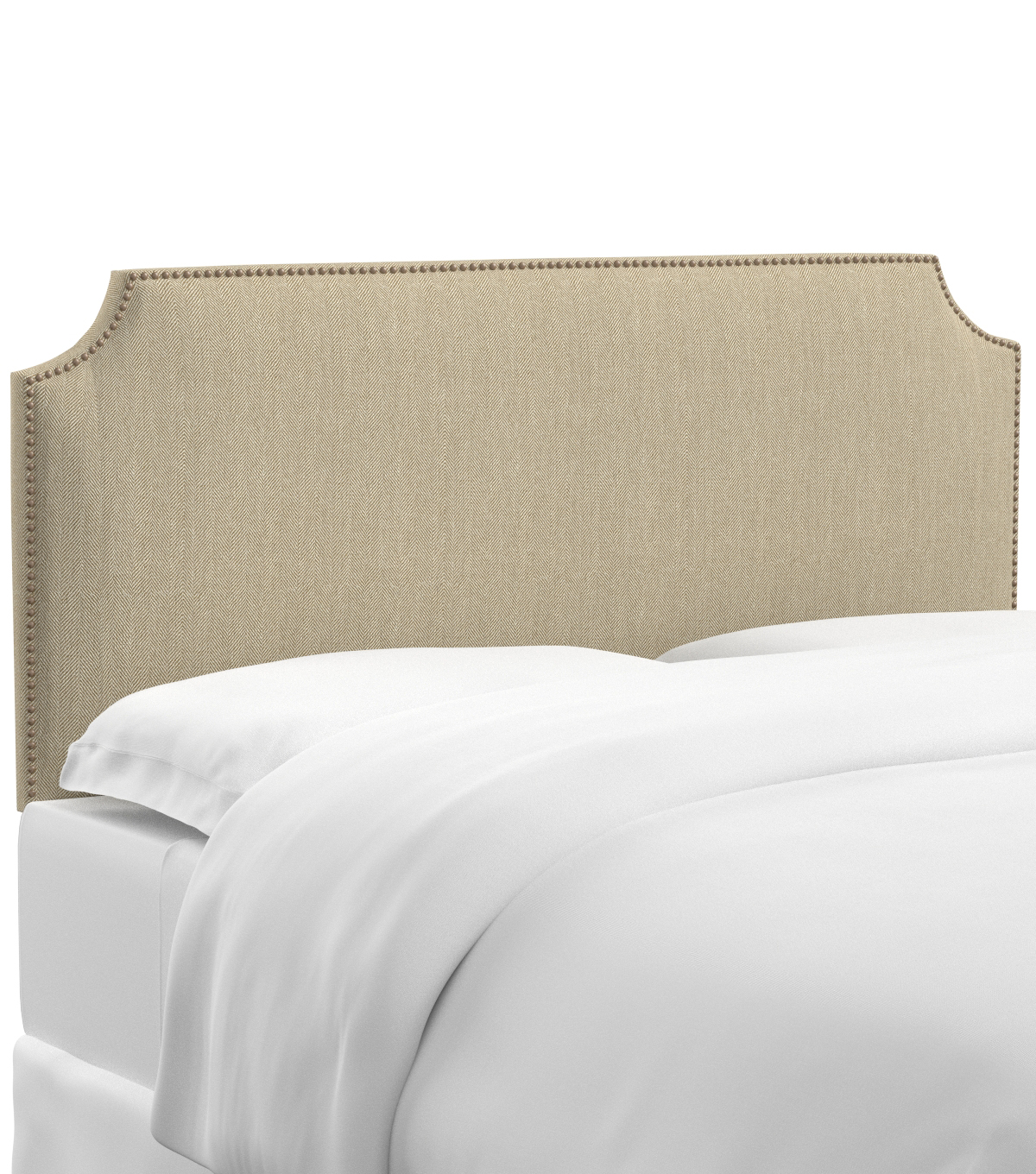 Skyline Furniture Notched Nail Button Headboard-King